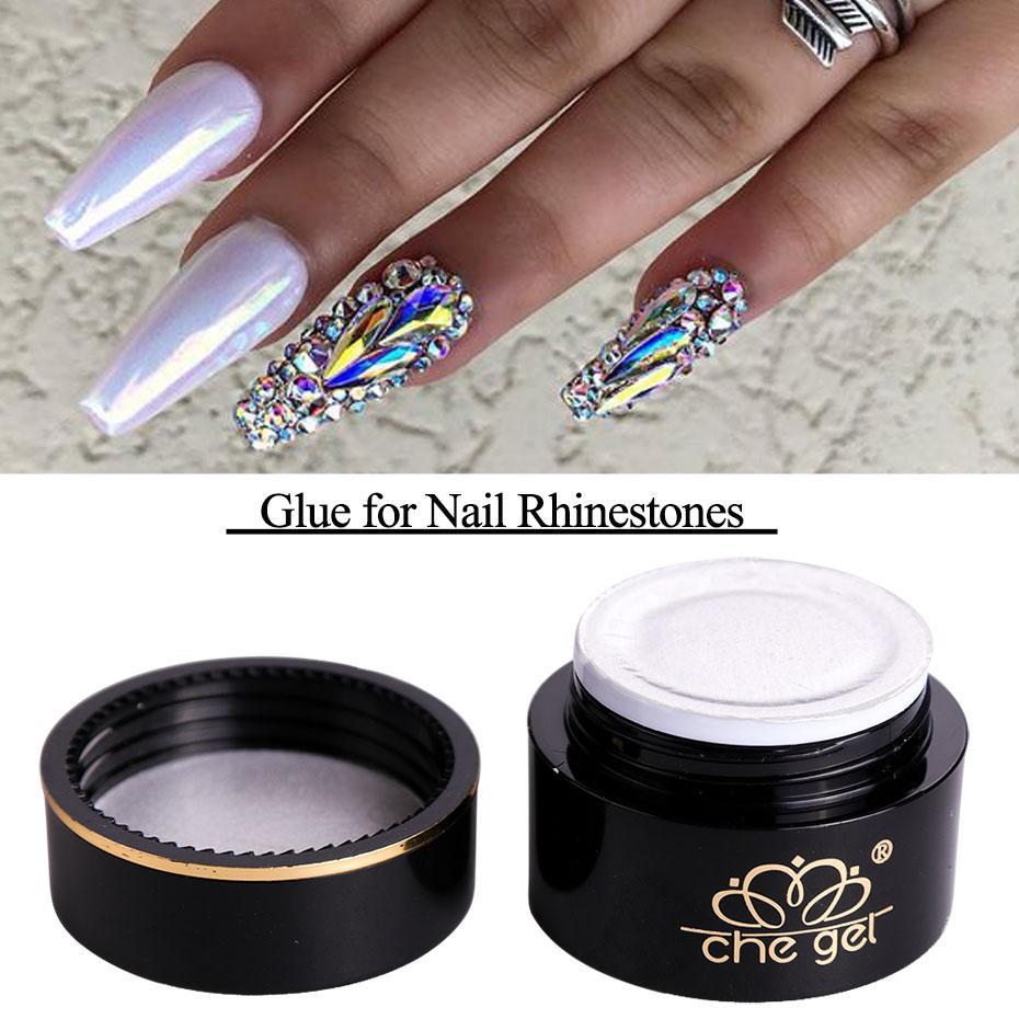 3a93f4c013829f Nail Gel 6g Nail Art Rhinestones Glue DIY UV Gel Adhesives Super Sticky For  Glitter Crystal Gem Diamond Jewelry Manicure Decor Tips CH545 Gel Nails At  Home ...