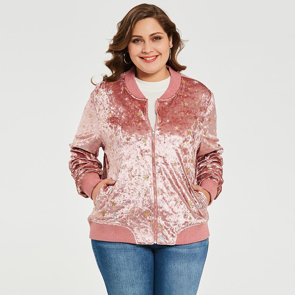 697c6c530 Women Fashion Bomber Jacket Sexy Slim O Neck Long Sleeve Basic ...