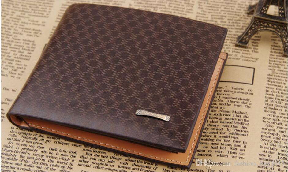 Vintage Men Leather Brand Luxury Wallet Short Slim Male Purses Money Clip Credit Card Holder Wallet