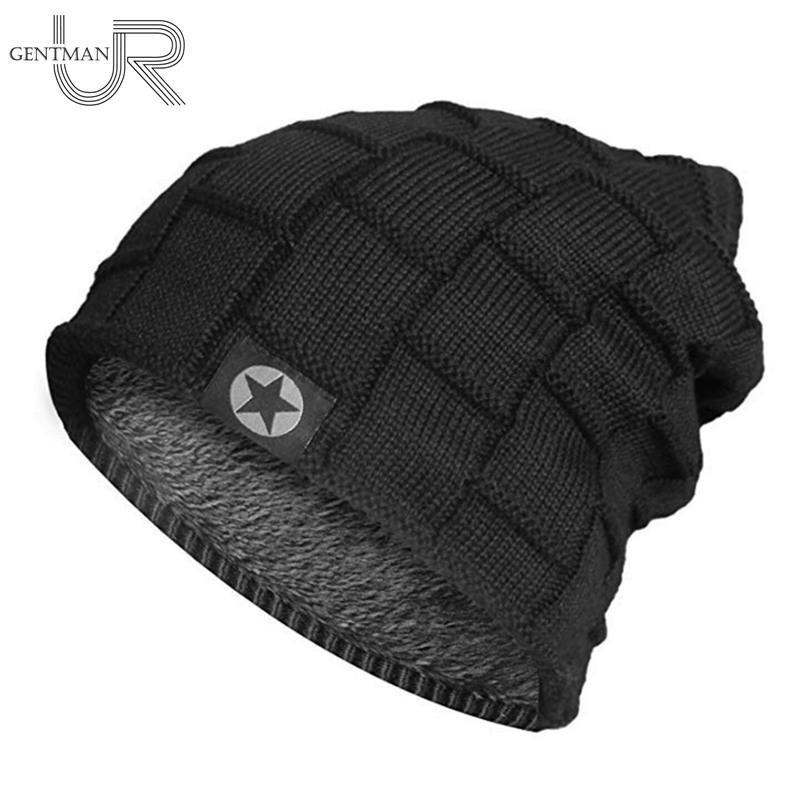 80cb700e90421 2019 2018 Unisex Fleece Lined Beanie Hat Knit Wool Warm Winter Hat Thick  Soft Stretch For Men And Women Fashion Skullies   Beanie From Hcaihong