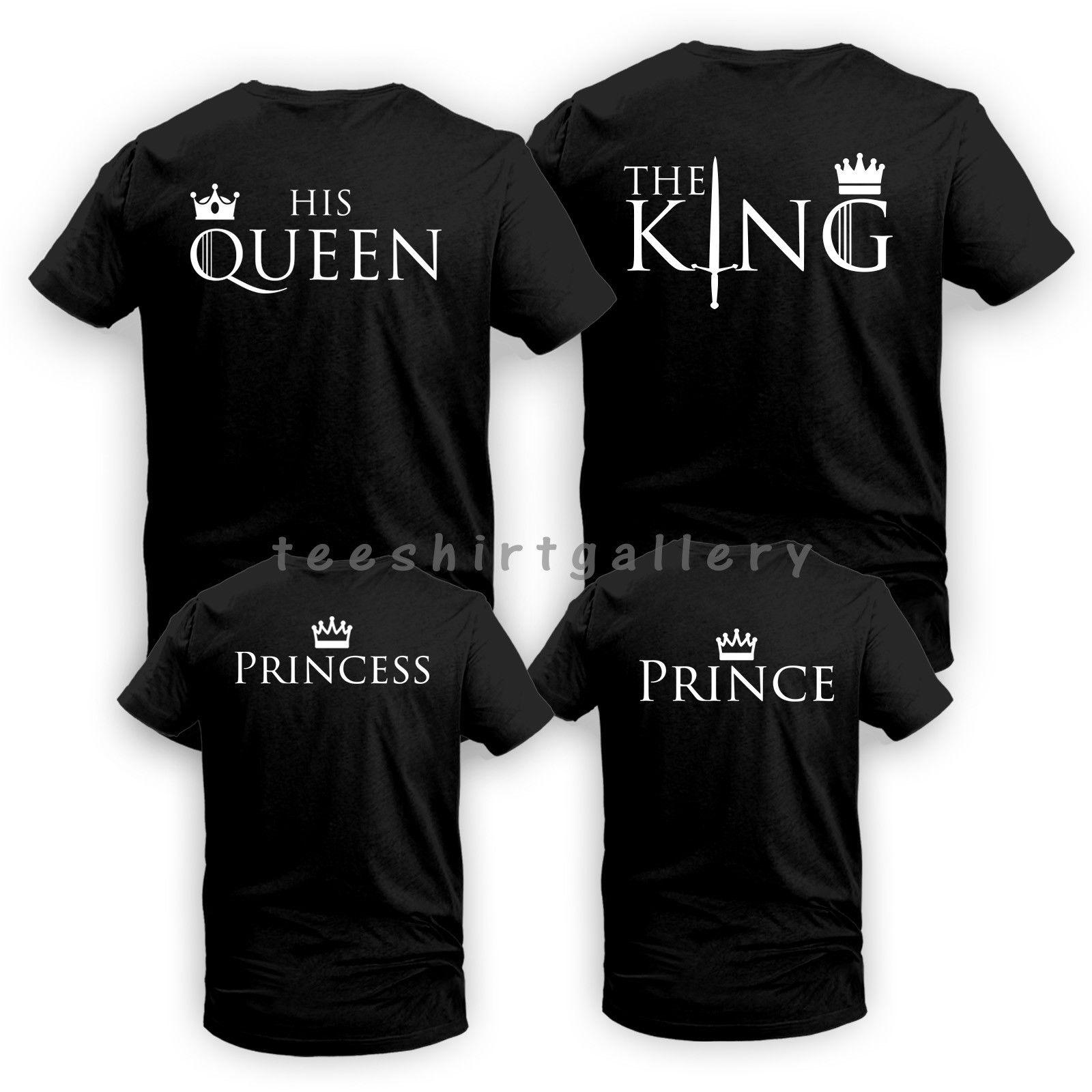 e1ae103e7bce2 King Queen His Queen Her King Couple Matching Funny LOVE Valentine s Day T  Shirt Funny Unisex Casual Tshirt Gift Humorous Tee Shirts Design And Order T  ...