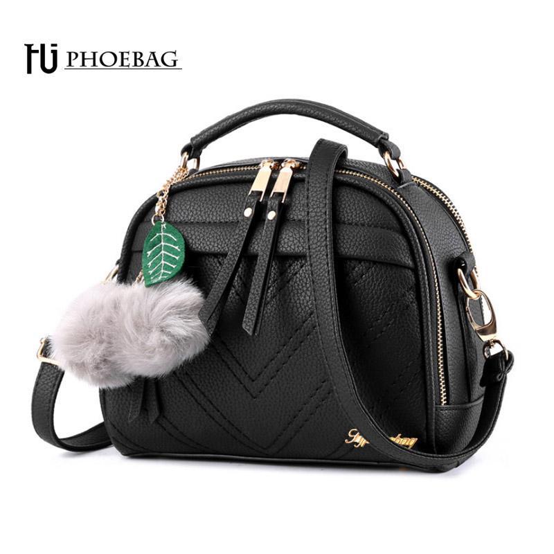 508be3fe9f HJPHOEBAG Women PU Leather Shoulder Bags Small Shell Bag Fashion ...