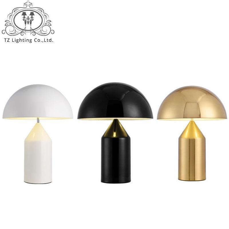 TZ Italy Modern Mushroom Table Lamp White Black Gold Table Lamp Light For  Bedroom Living Room Study Lampara De Mesa Para