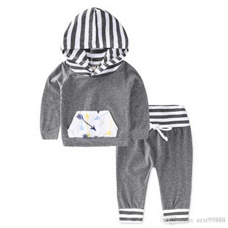 2018 2018 Autumn Baby Clothes For Boys Gilrs Long Sleeves Tops With