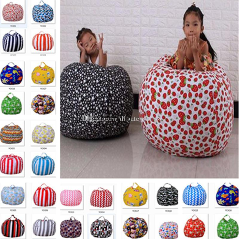 Terrific 43 Colors Storage Bean Bas Kids Stuffed Animal Toy Beanbag Canvas Bean Bags Striped Print Toys Clothing Bedding Organizer Storage Boxes Bags Ocoug Best Dining Table And Chair Ideas Images Ocougorg