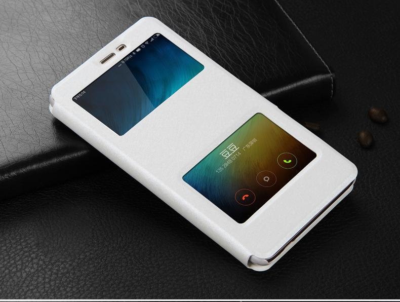 Pro Phone Case For Xiaomi Redmi Note 3 Prime 150mm Dual Window View Leather Flip Cellphone Cases Cover