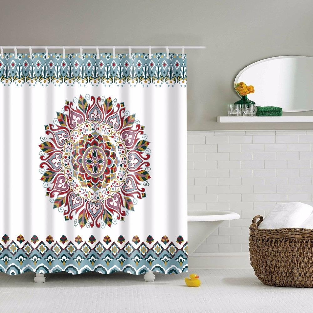 2018 Lfh 180x180cm Mandala Bohemian Shower Curtain Romantic Bathroom ...