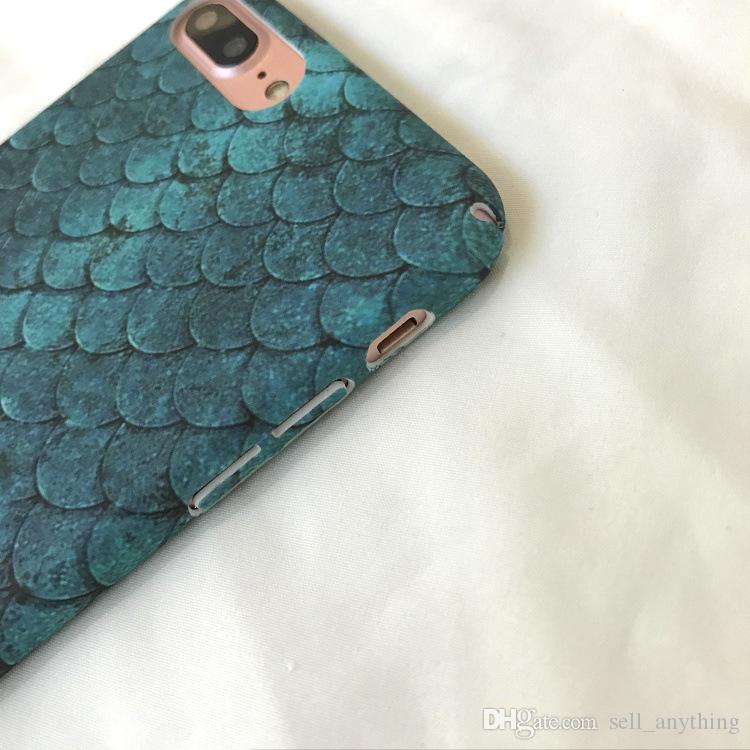 For Iphone 8 Phone Cases Mermaid Fish Scales Blue South Korea INS Same Paragraph Cell Phone Case For Iphone 6 7 X Plus