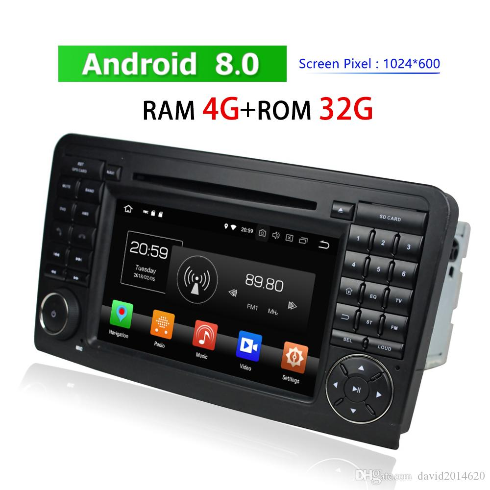 Verwonderlijk 2 Din Android Autoradio Bluetooth For Mercedes Benz ML CLASS W164 ZH-05