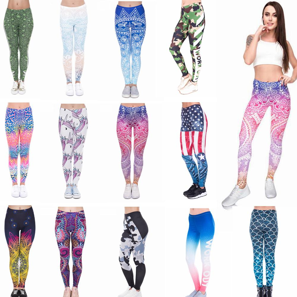 a32d3e1f9a2c63 2019 Women Girls Leggings Yoga Pants Mandala Floral 3D Digital Mermaid  Printing Slim Fitness Workout Running Tights Trousers AAA648 From  Best_sports, ...