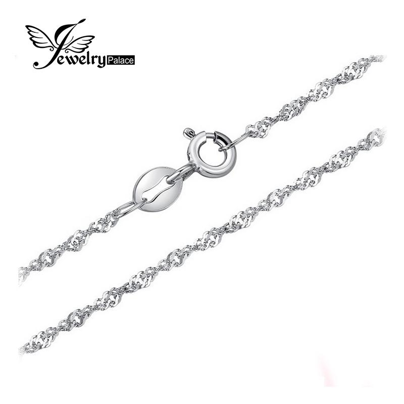 Jewelrypalace New Singapore Rope Chain Necklace Pure 925 Solid Sterling Silver 1.8 2.3mm 40 cm 45 cm Fashion Jewelry