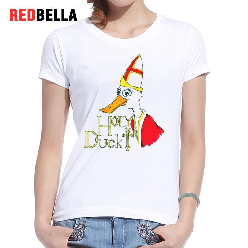 b0535a74d1 Women's Tee Redbella T-shirt Women Vintage Funny Duck Cartoon Artistic  Humor Crazy Graphic Hipster Drawing Aesthetic T Shirt Printed Clothes