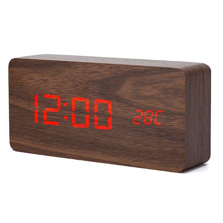 Upgrade LED Alarm Clocks Despertador Temperature Sounds Control LED Display Desktop Digital Table Clocks by DHL
