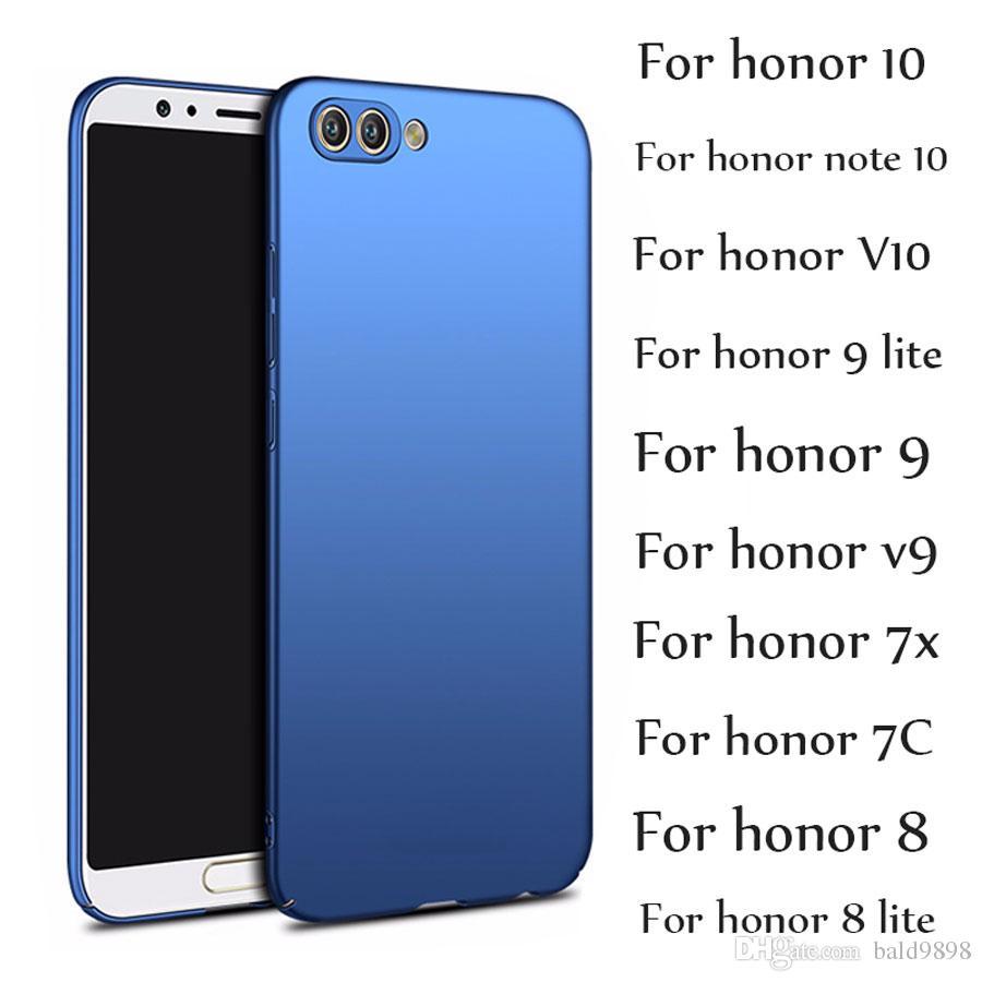 7365fd87b549e Купить Чехол Для Телефона Для Huawei Honor 10 9 Lite Case Honor Note 10 V10  9 8 Lite 7X Чехлы Роскошные Ультра Тонкий ПК Жесткий Матовый Обложка Чехол  На ...