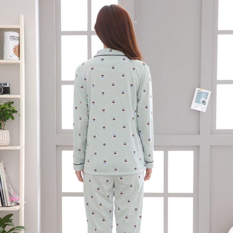 2145f699c6 2019 Plus Size 100% Cotton Pajamas Sets For Women 2018 Autumn Winter Long Sleeve  Pyjamas Female Print Pijama Lounge Homewear Clothing From Walkerstreet