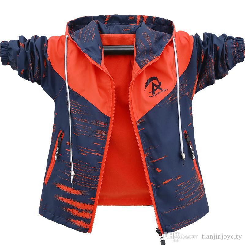 cffb08c29 2018 New Sport Children Autumn Boys Jacket Sportswear Boy Outdoor ...