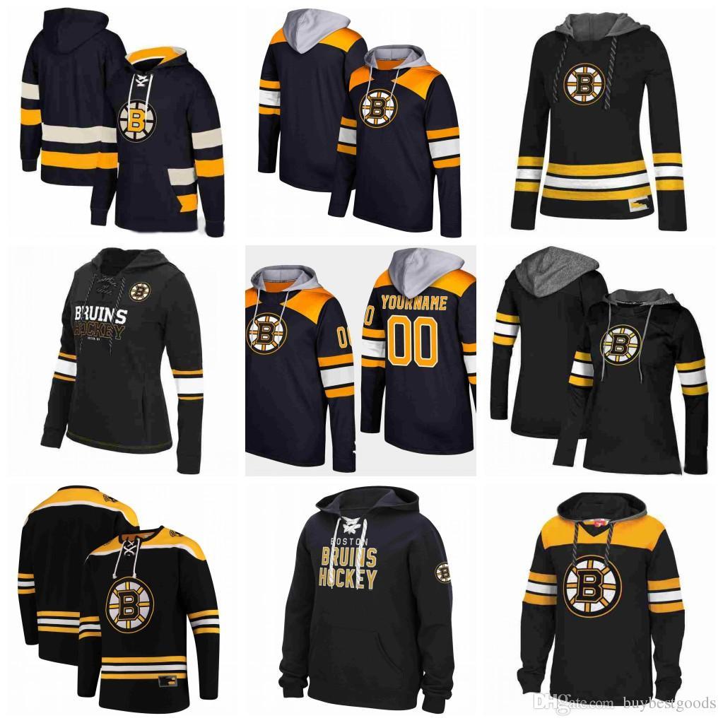 buy online 32bb6 73e68 Custom Boston Bruins Hoodies Jerseys Bobby Orr Torey Krug Cam Neely Zdeno  Chara Tuukka Rask Brad Marchand David Pastrnak Hockey Hooded Sweat