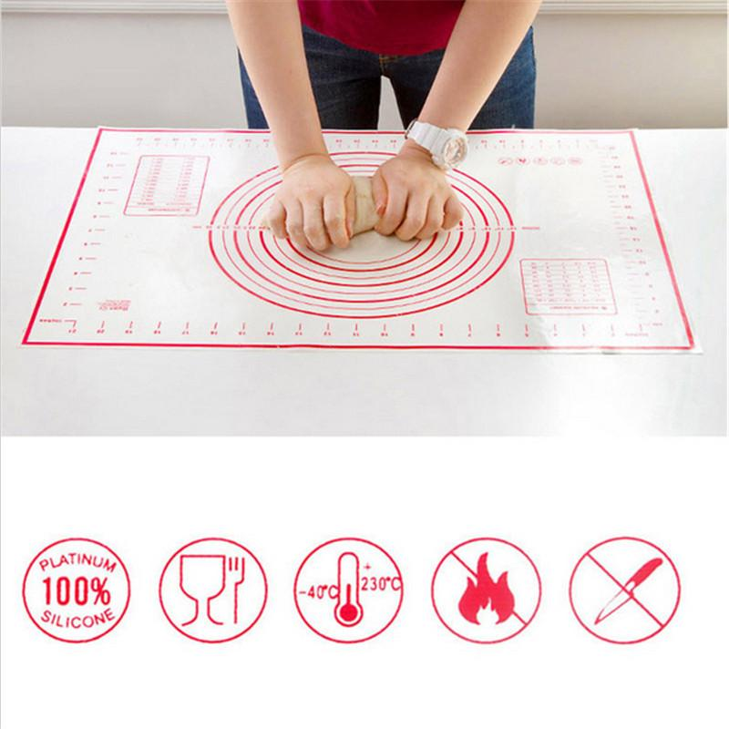 Non Stick Silicone Baking Mat Pizza Dough Maker Pastry Kitchen Gadgets Cooking Tools Utensils Bakeware Liners Pads