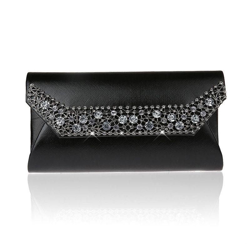 Fashion Casual PU Leather Diamonds Women Evening Bag Luxury Banquet ... 70747e7bf5b71