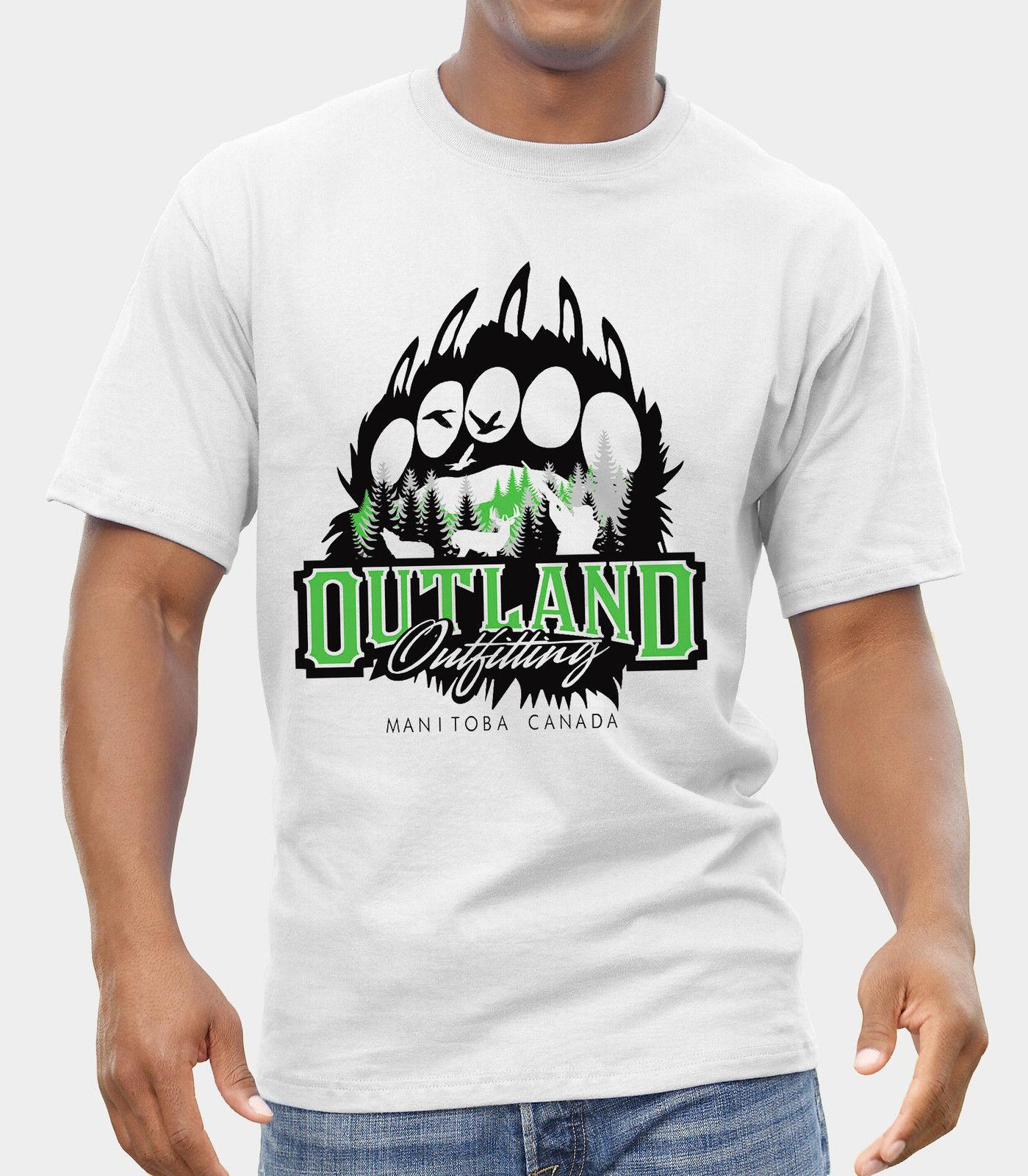 8731d243a Outland Outfitters Bear Deer Wolf Ducks Hunting Logo Design T Shirt S Xxl  100% Cotton Short Sleeve O Neck TTop Tee Basic 2018 New Brand Cool Tee  Designs ...