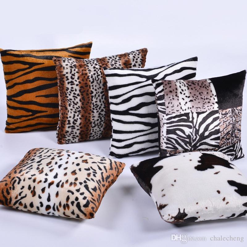 Super Soft Velvet Leopard Print Home Decor Pillow Cover Decorative Interesting Leopard Print Pillows Decorative