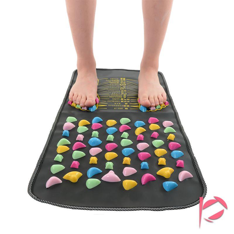 Iclouds haute qualité chinoise réflexologie marche douleur de la pierre soulager la jambe pied masseur tapis soins de santé acupression