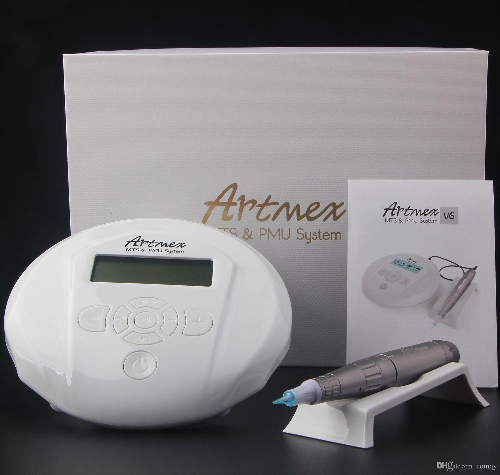 Artmex V6 Permanent Makeup Machine Kits Tattoo Makeup LCD Screen Eyebrows  Eyelids Lips Pen Electric DermaPen Auto Microneedle System