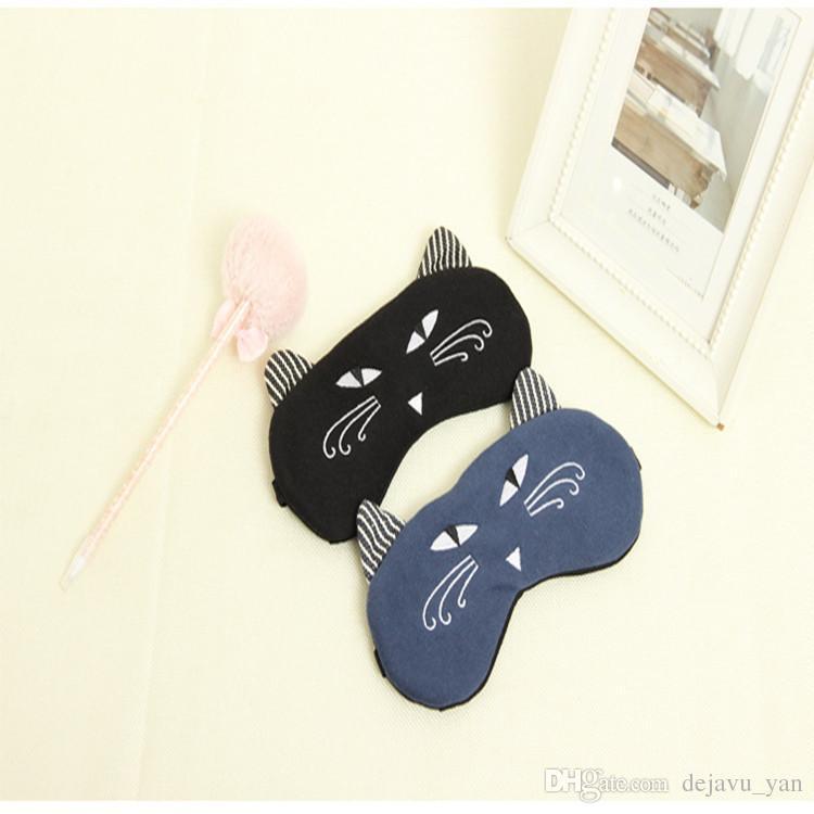 Muito bonito gatinho multi-cor Natsume modelagem óculos de animação prop elástico máscara de olho máscara de olho máscara de dormir