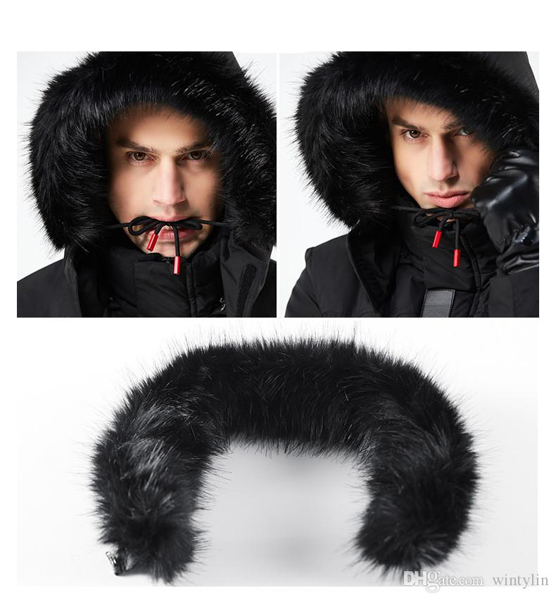 5a9288550 2018 Mens Jackets Black Long Man Winter Jacket Men Thicken Warm Fur Hooded  And Coats Zipper Down Men Parkas