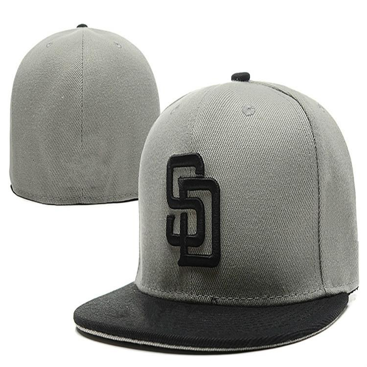 Retro Ball Team Padres Fitted Caps SD Letter Baseball Cap Embroidered Team  SD Letter Size Flat Brim Hat Padres Baseball Cap Size Womens Baseball Hats  Cheap ... 7a0e611d2ae