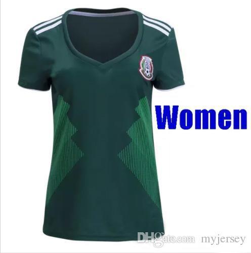Top Calidad México 2018 Mujeres Jerseys De Fútbol Copa Del Mundo Chicharito  Camiseta De Fútbol 17 18 México Mujeres Niñas Blancas Verdes Camiseta De  Futol ... 1a9634843328c
