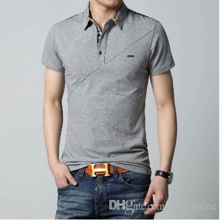 56d5e96fe5bc Mens T Shirts Fashion 5XL Summer T Shirt Geometric Design Turn Down Collar  Short Sleeve Cotton T Shirt Men Tee 5XL Fitted Shirts T Shirt Sale From  Supernine ...