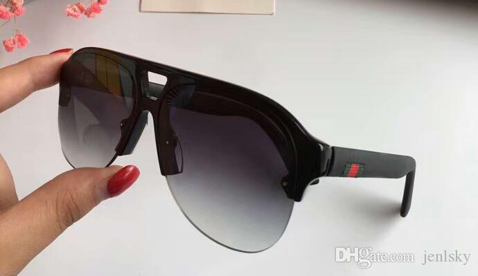 822faa0f7f613 Men Matte Black Pilot Sunglasses Grey Shaded Sonnenbrile Des Lunettes De  Soleil Women Designer Sunglasses Glasses New With Box Locs Sunglasses  Suncloud ...