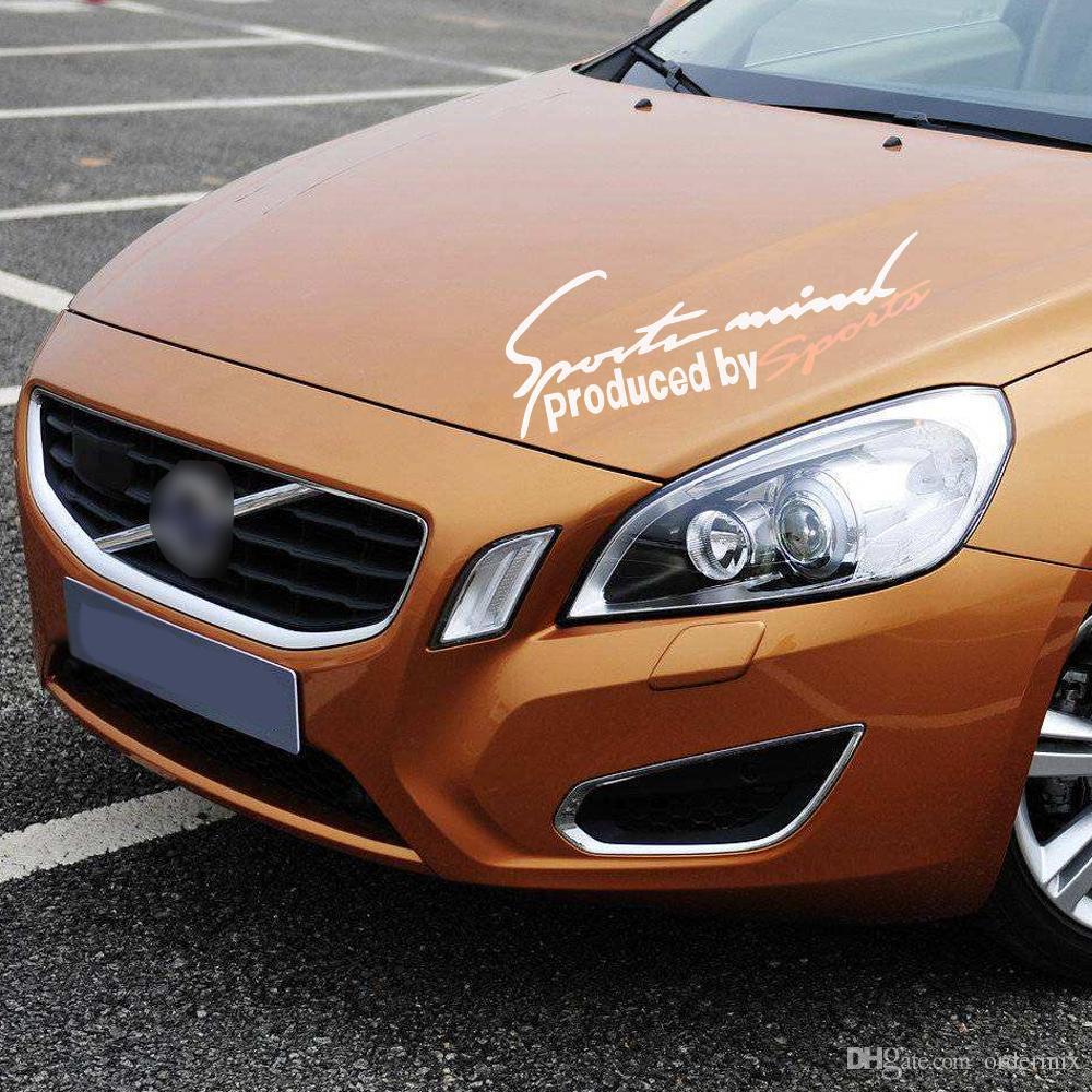 1 Pz Car styling Colla Sticker Sport Design Moto Auto Racing Impermeabile Riflettente Decalcomania ford vw opel renault