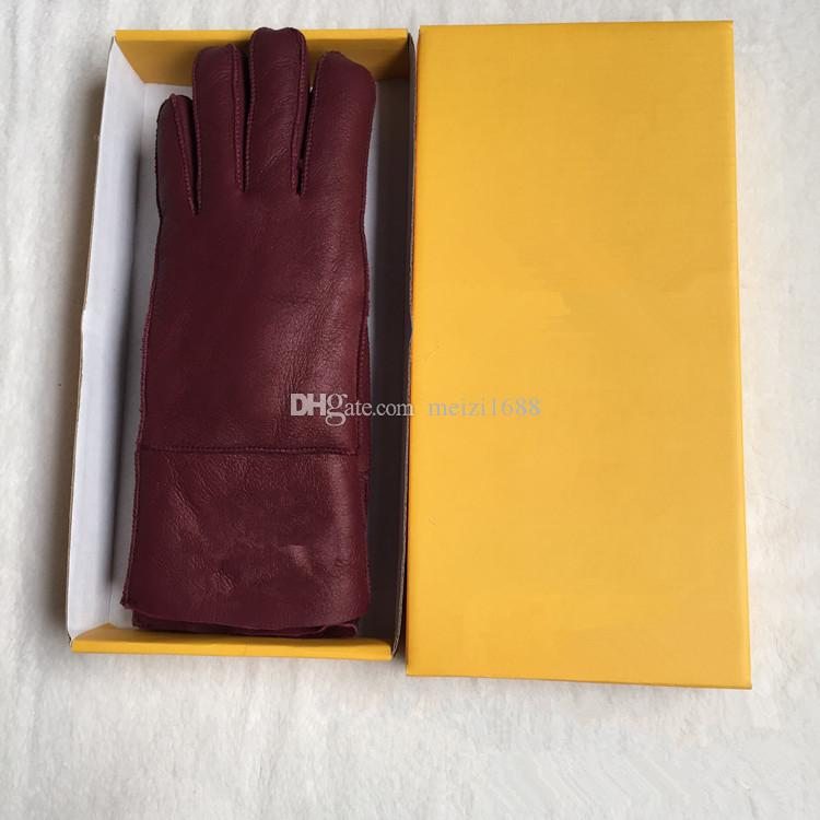 High Quality Ladies Fashion Casual Leather Gloves Thermal Gloves Women's wool gloves in a variety of colors -