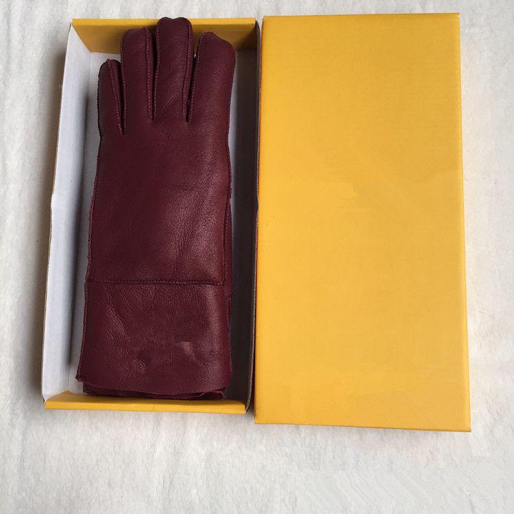 Yüksek Kalite Bayanlar Moda Casual Deri Eldiven Termal Eldiven kadın yün eldiven çeşitli renklerde - Ücretsiz Kargo