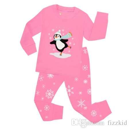a17bd822e0 Compre Pijamas De Navidad Para Niños Conjuntos Niños Niñas Penguin Ropa De  Dormir Para Invierno Navidad Bebé Muñeco De Nieve Ropa De Dormir Pijamas  Para ...