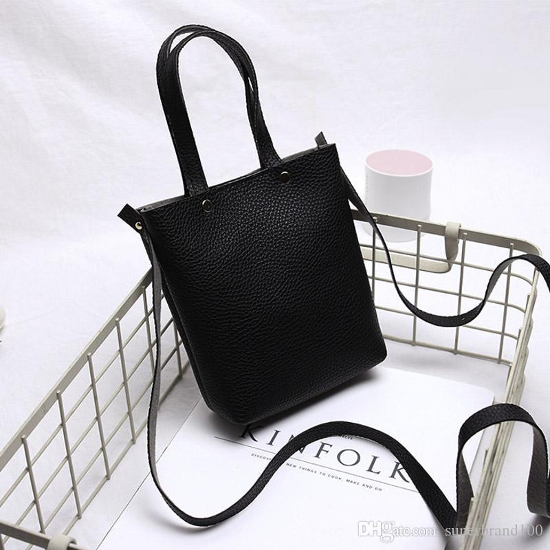 Art und Weise PU-Leder-kleine Frauen-Wannen-Handtaschen-weiblicher beweglicher Schulter-Kurierbeutel SAC A MAIN Hot