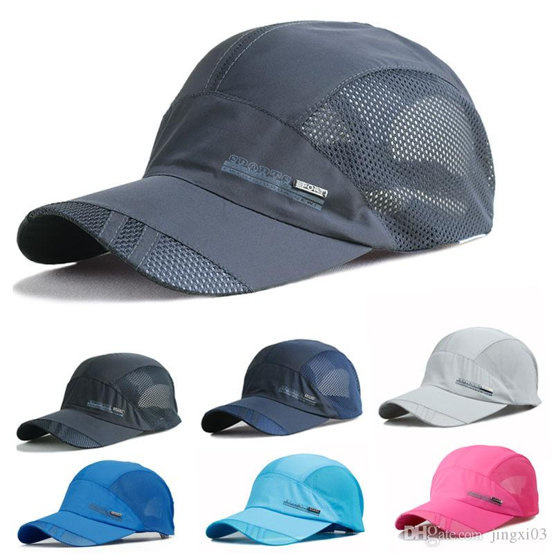 2019 2018 New Mesh Quick Dry Sunscreen Hat Outdoor Softness And Comfortable  Baseball Cap Unisex Casquette Tennis Caps Leisure Sports Hats From  Jingxi03 6df0ff49942