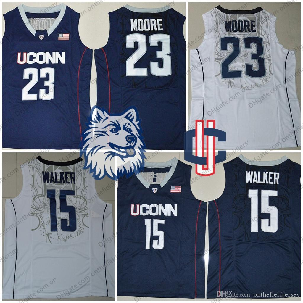 5ab21324c1e8 ... 2019 uconn huskies 23 maya moore 15 kemba walker navy blue white ncaa  college basketball jerseys