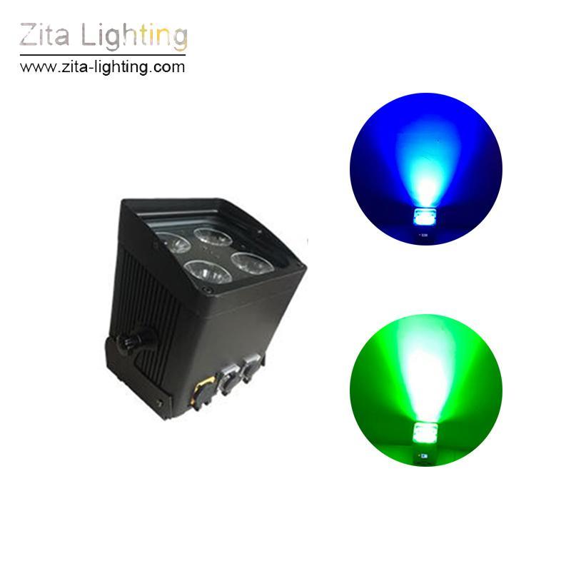 Zita illuminazione a LED portatile della batteria Par Luci senza fili della luce della fase della lavata della parete impermeabile IP65 6in1 Par Can Wedding DJ Disco Party
