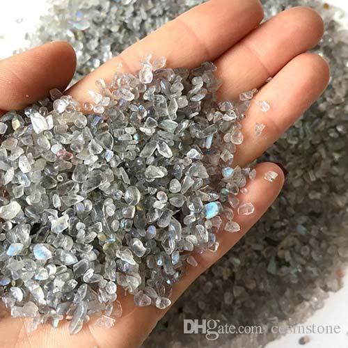 100g Gri Aytaşı Kuvars Çakıl kristal Yeni Süslemeleri Akvaryum Balık Tankı Taş Eskitme Ezilmiş Düzensiz Şekilli Cips Reiki Şifa Kaba