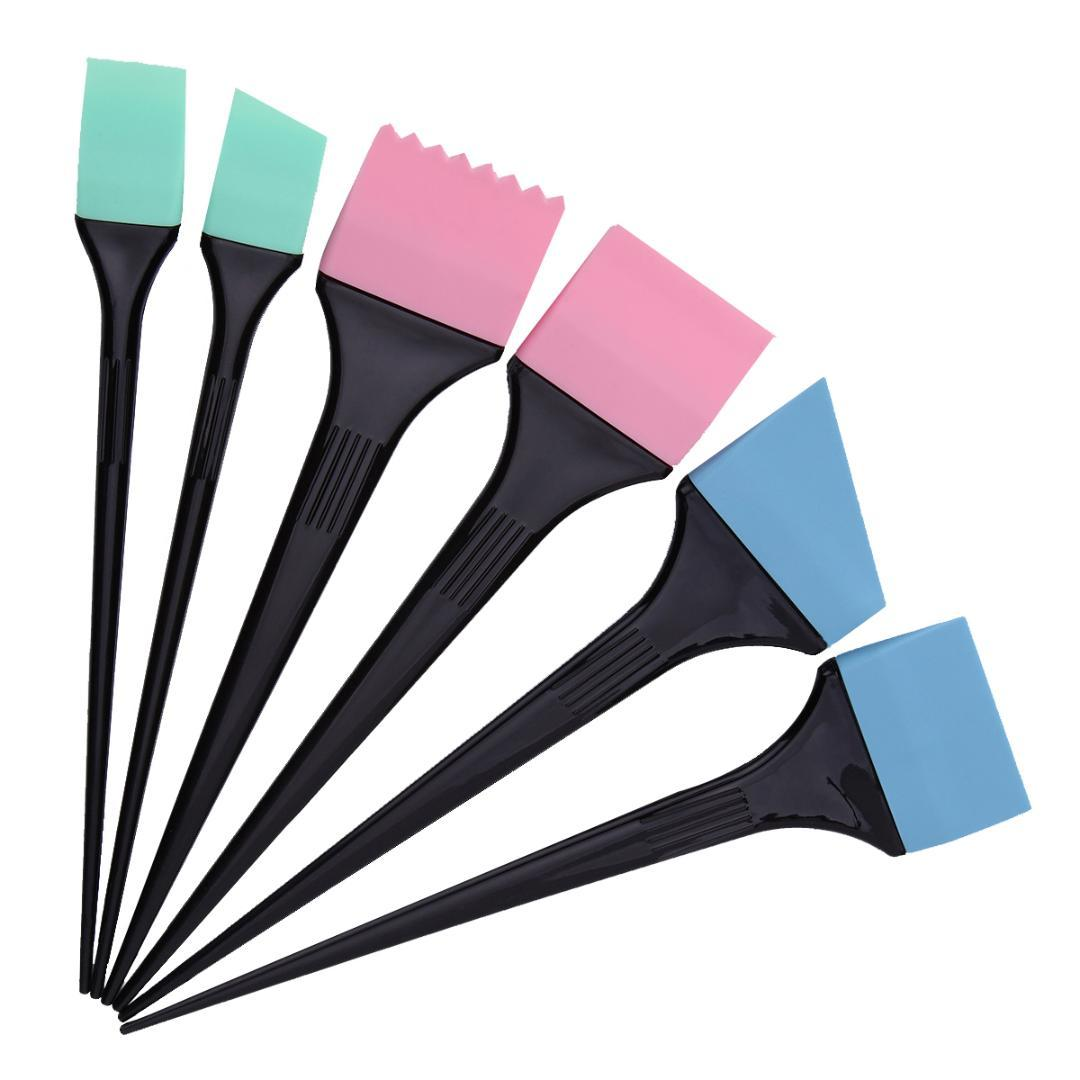 6 Style Styling Silicone Dye Brush Set For Hair Coloring Dyeing