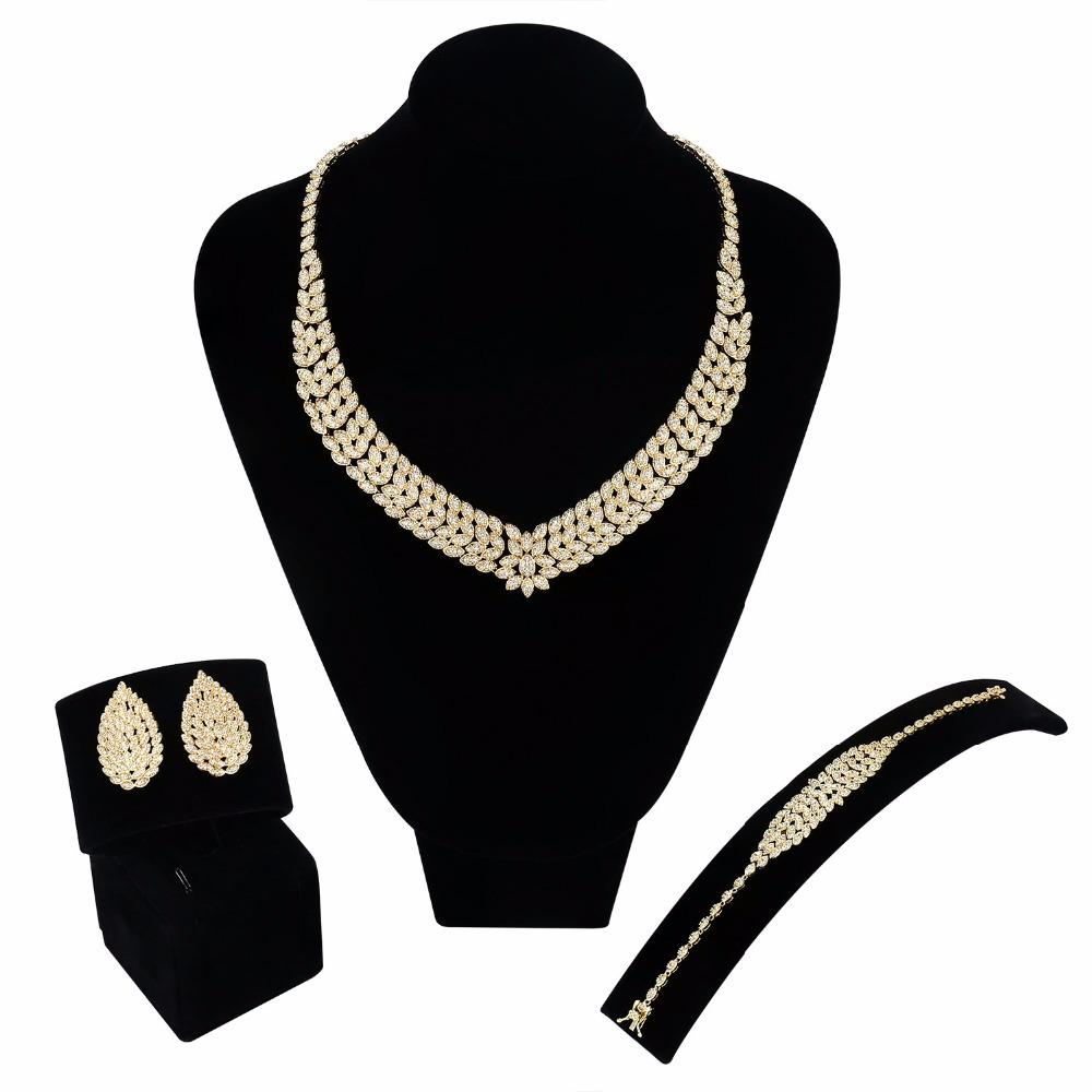 b7e3c52958 Brand New Jewelry Sets Setting with Cubic Zircon Engagement Necklace ...