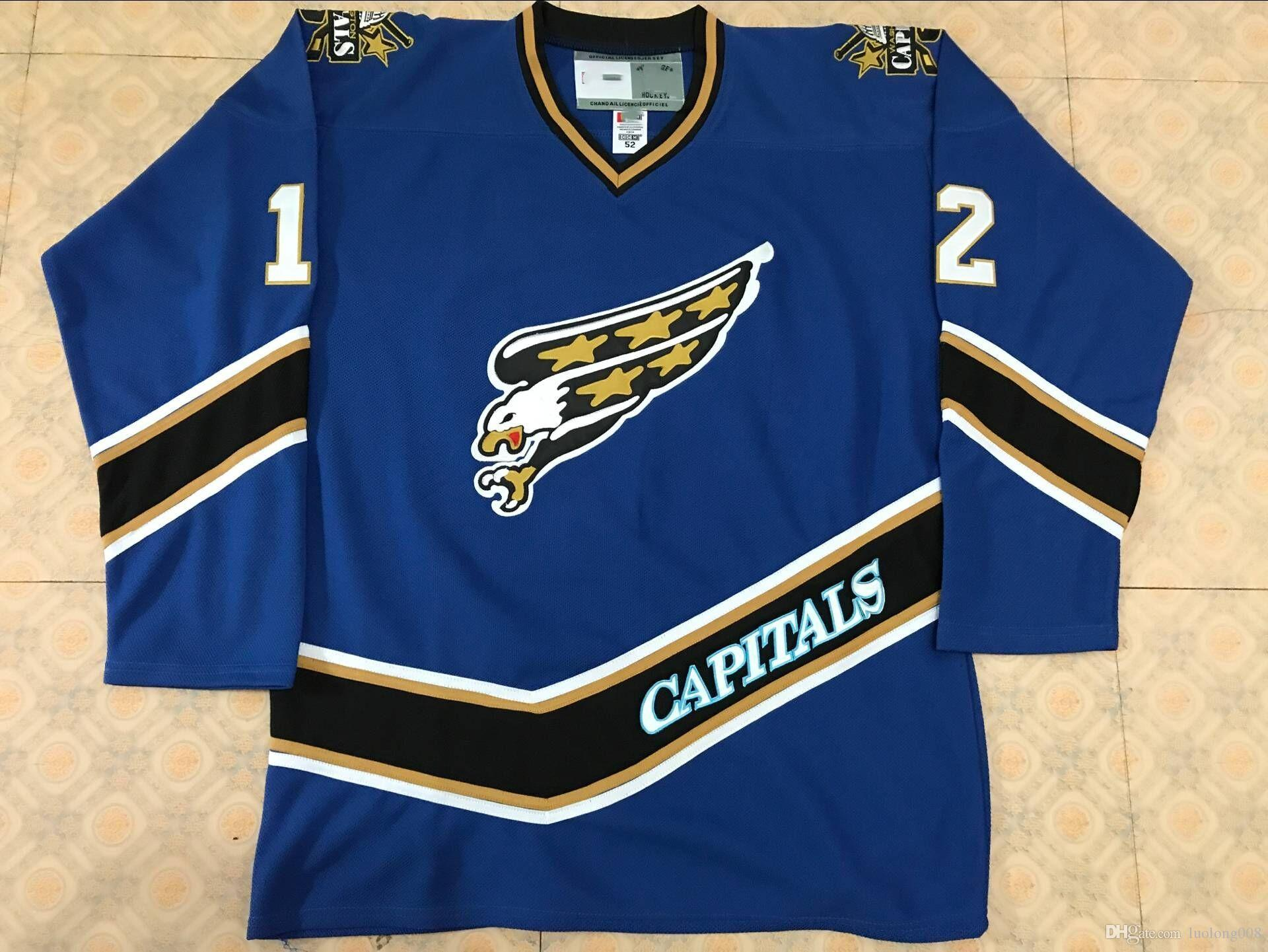 2019 Vintage Washington Capitals Screaming Eagle  12 Peter Bondra Hockey  Jersey Embroidery Stitched Customize Any Number And Name Jerseys From  Luolong008 07bdfe74b60