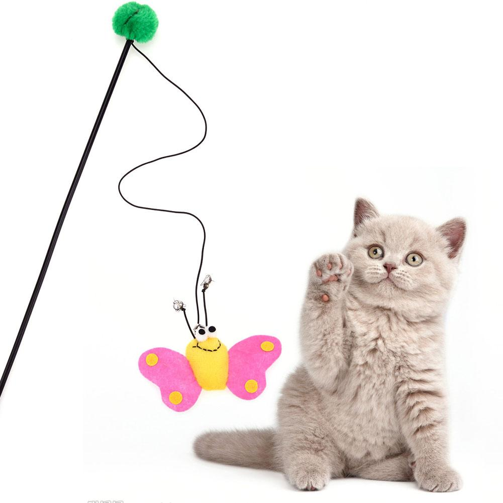 Supplies Cat Toys Cat / Kitten Pet Teaser Feather Wire Chaser Pet ...