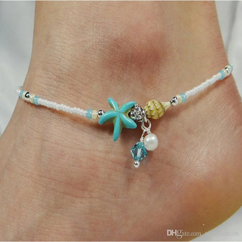 Fashion Jewelry Fashion Starfish Pendant Conch Anklet Foot Jewelry Beach Chain Gift