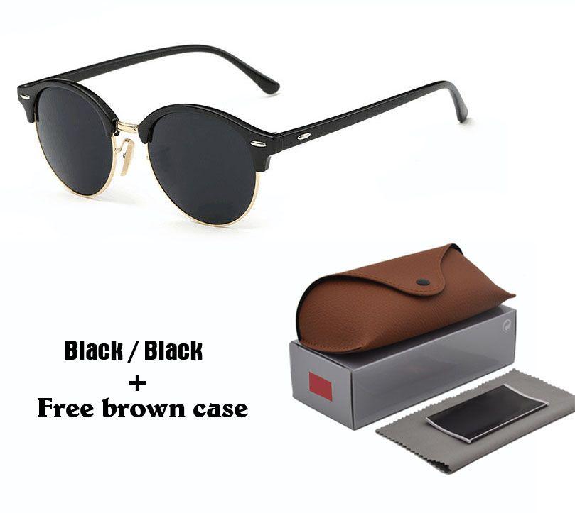 192e043bb Brand Retro Round Sunglasses Women Men 2019 New Steampunk Sun Glasses Half  Metal Frame G15 Uv400 Lens With Brown Cases And Accessories Sunglasses At  Night ...