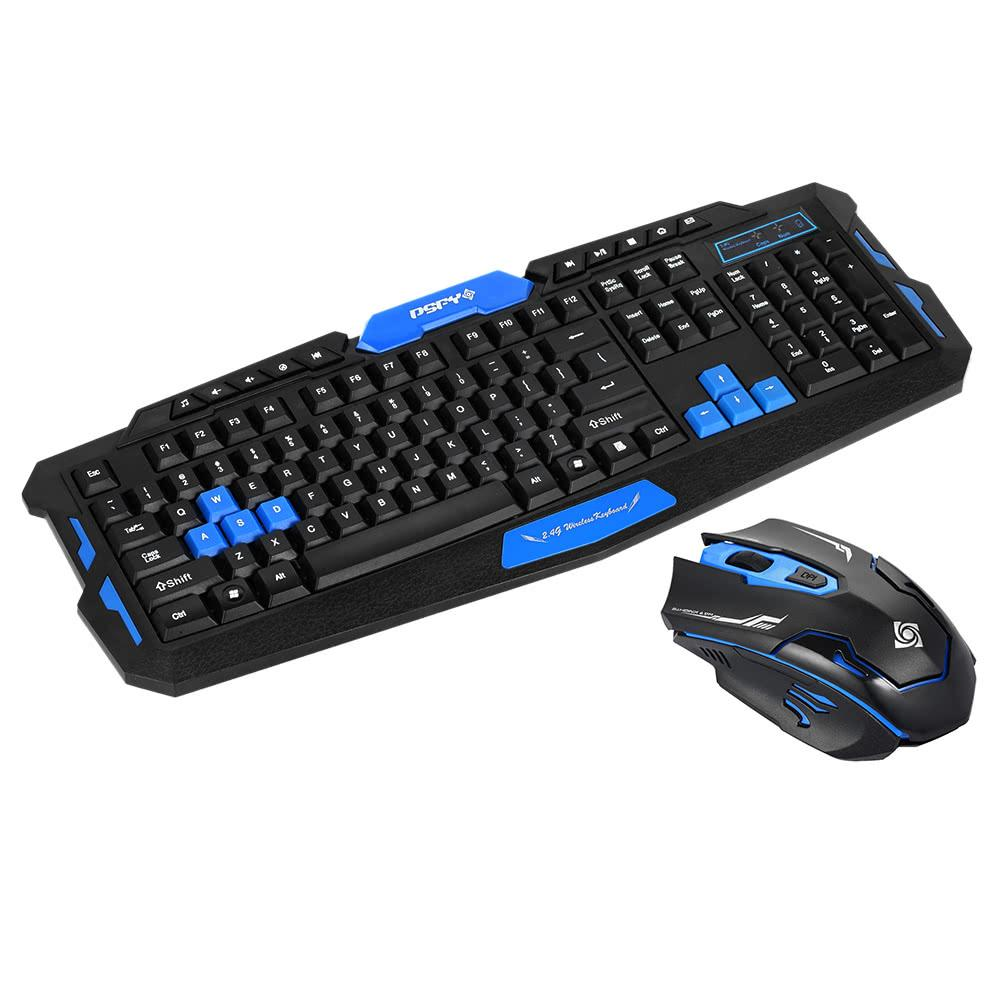 Dsfy 2 4ghz Wireless Gaming Keyboard Mouse Combo 19 Keys Anti