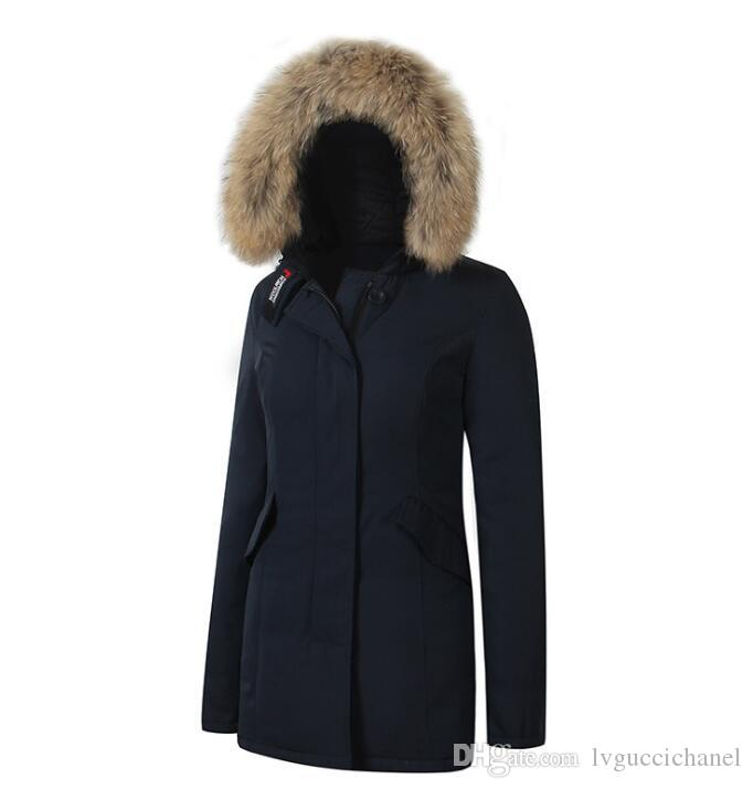 Fashion new Woolrich Women Arctic Anorak Down jacket Woman Winter goose down 90% Outdoor Thick Parkas Coat Womens warm outwear jackets